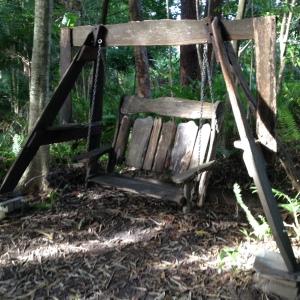 Chair swing along the bushwalk.